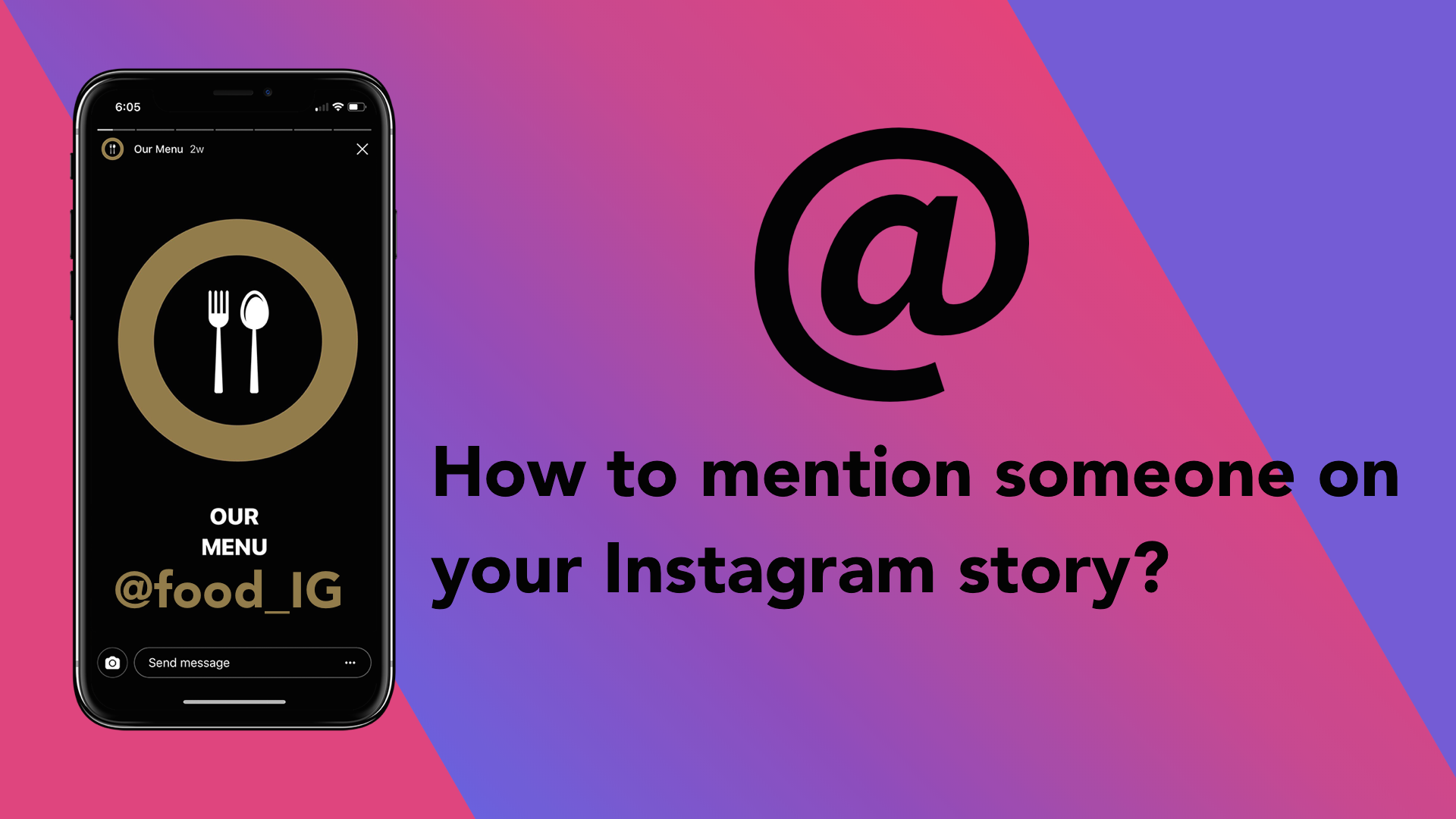 mention someone on instagram story