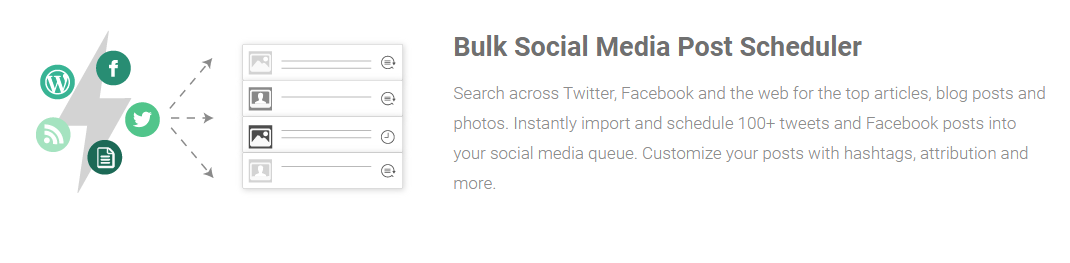 Bulk social medial scheduler