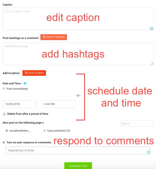 AiSchedul uploading a post