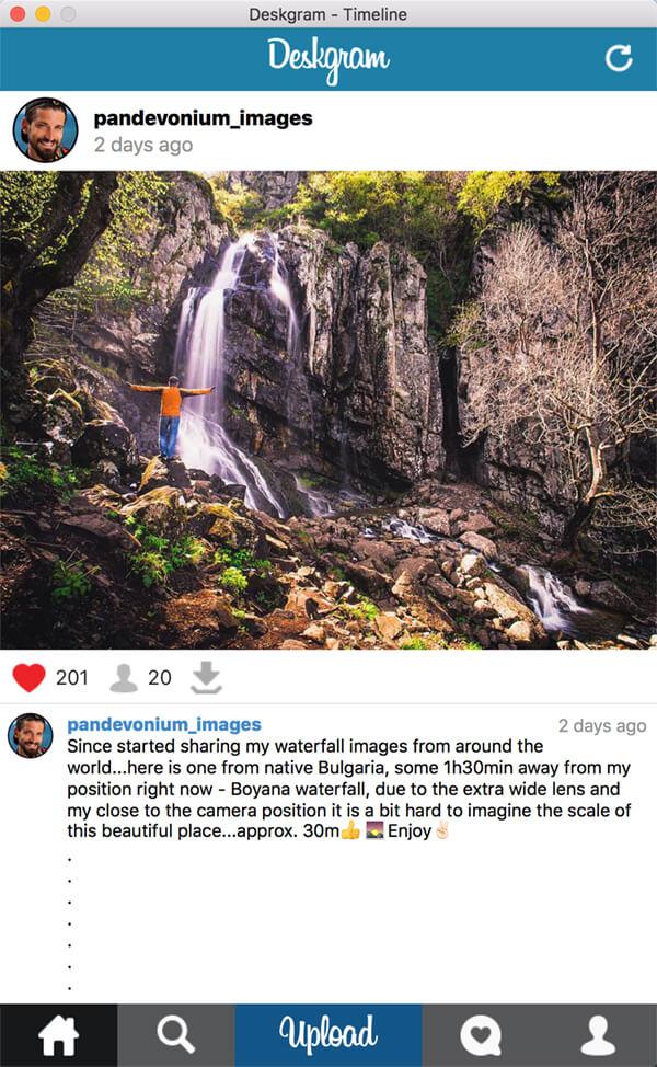 Gramblr Alternative Deskgram is a windows/mac Instagram app