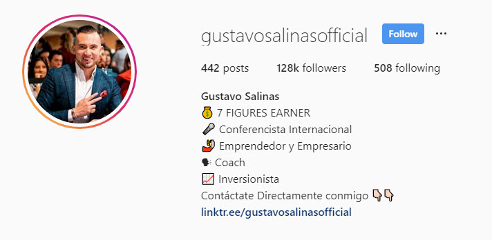 Gustavo bio example