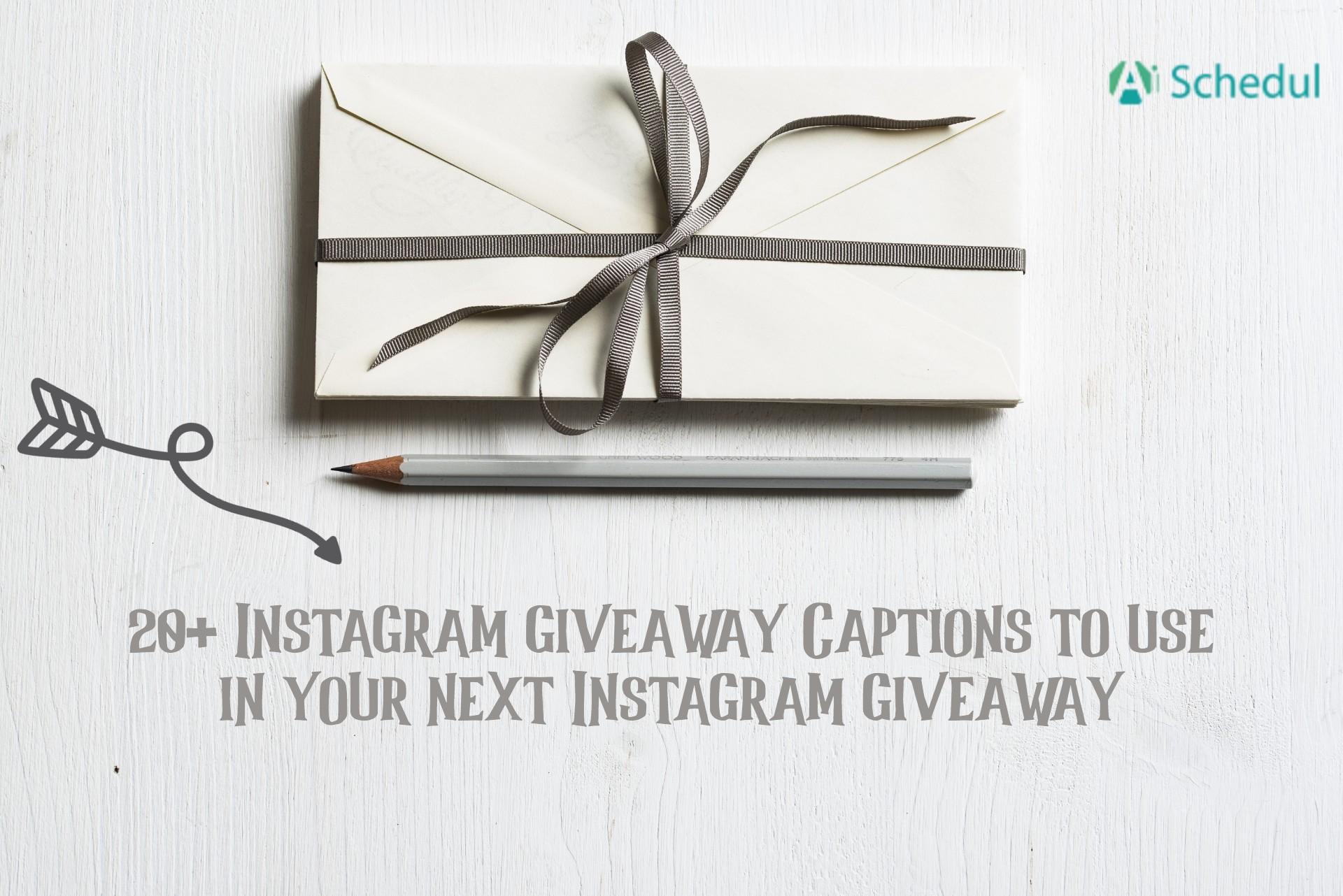 Instagram giveaway caption
