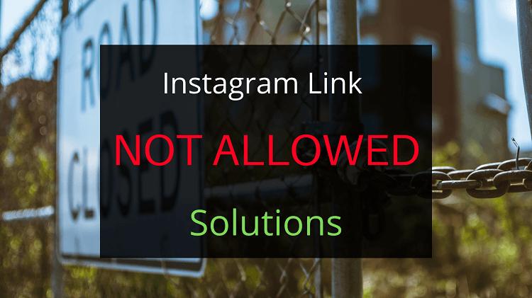 Instagram link not allowed poster