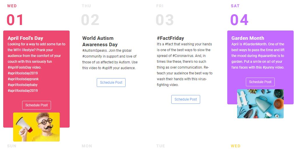 Daily Instagram Ideas with AiGrow Content Calendar