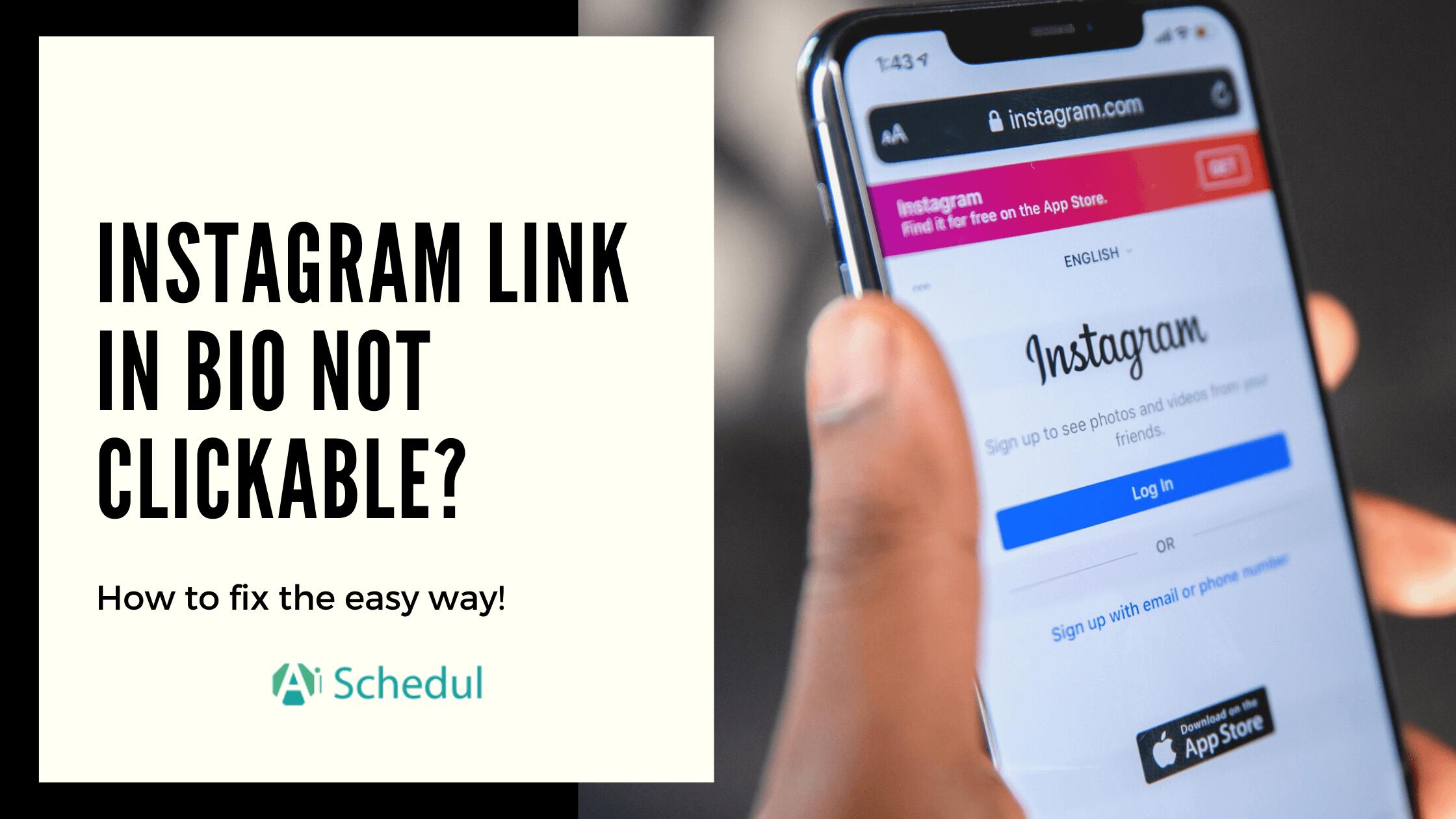 instagram link in bio not clickable