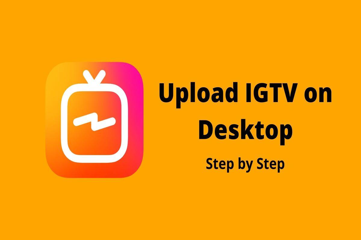 Logo of IGTV on an orange background