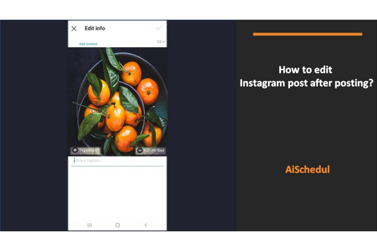 How to edit Instagram post after posting