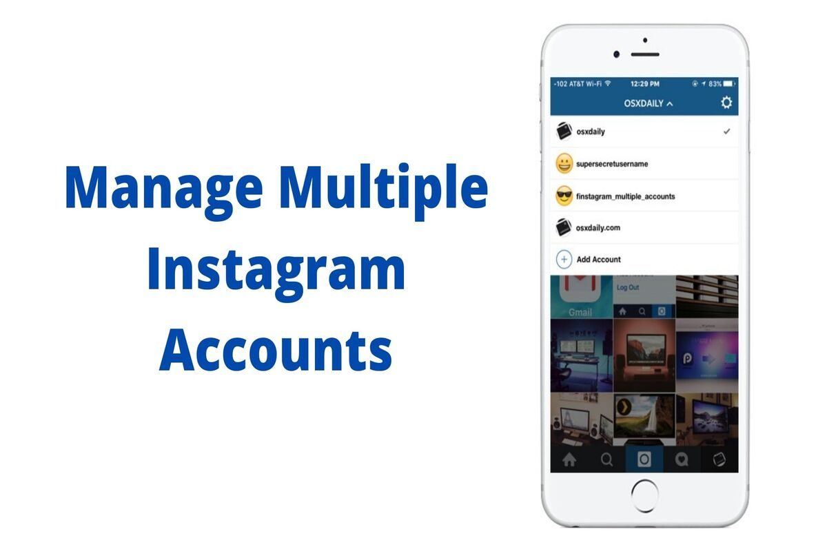 5 Instagram accounts on app