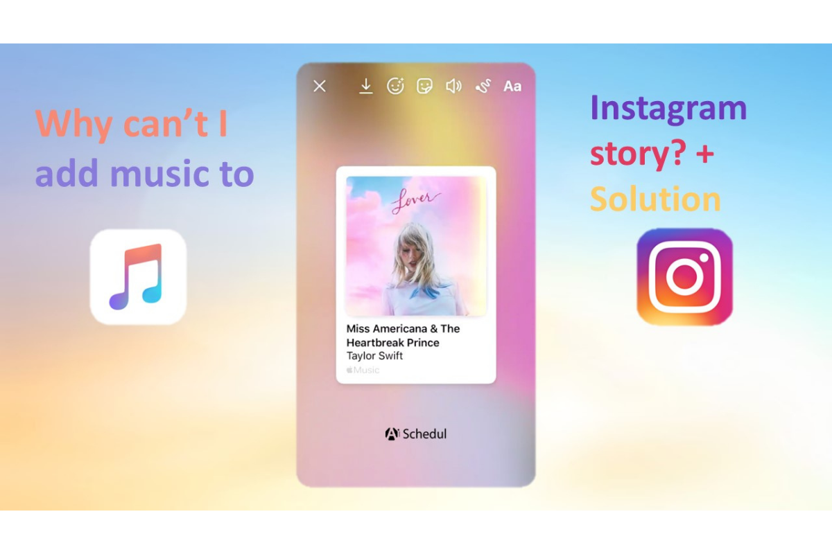 Can't add music to Instagram story