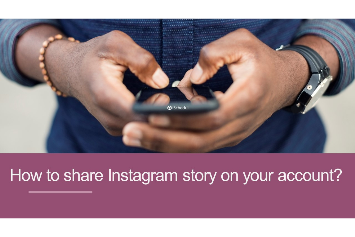 Share Instagram story